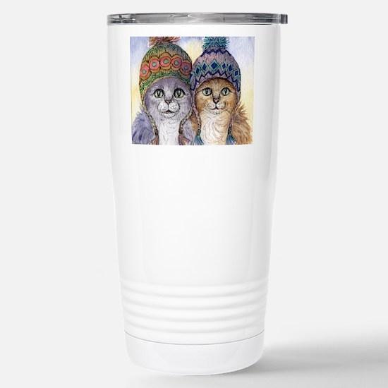 The knitwear cat sisters Travel Mug