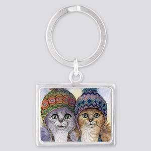 The knitwear cat sisters Keychains