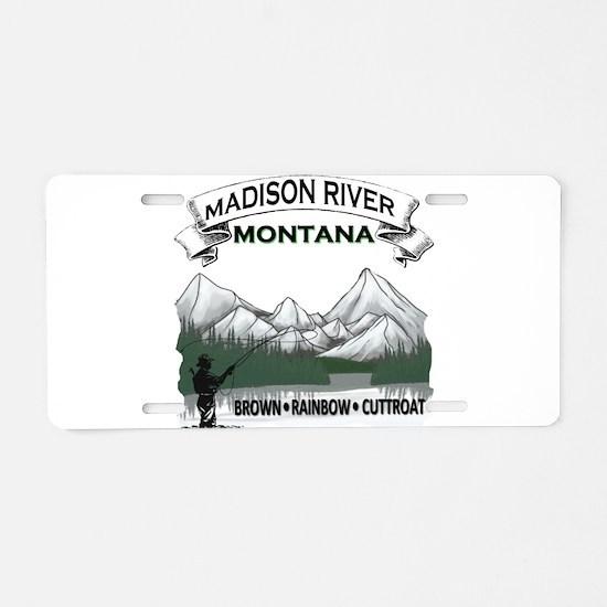 Madison River Fishing Aluminum License Plate