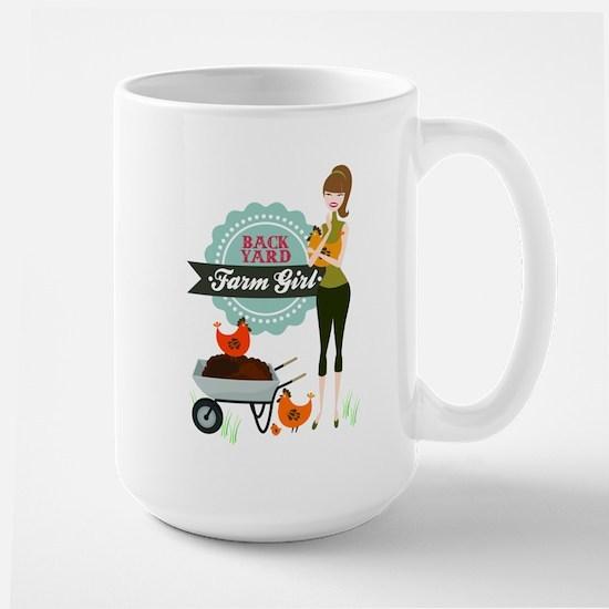 Backyard Farm Girl Large Mug
