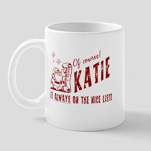 Nice List Katie Christmas Mug
