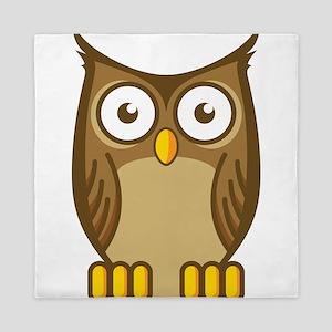 Brown Owl-2 Queen Duvet