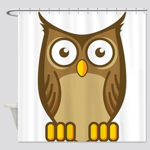 Brown Owl-2 Shower Curtain