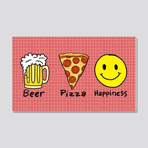 Beer Pizza Happiness Wall Decal
