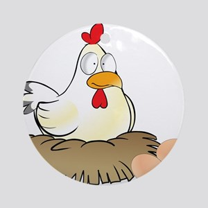 Chicken and Eggs Ornament (Round)