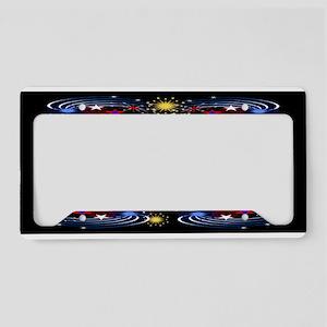Fireworks Black Sky License Plate Holder