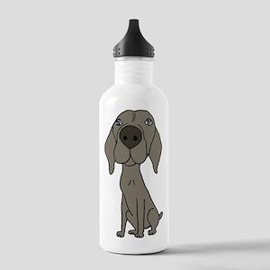 Cute Weimaraner Puppy Dog Cartoon Water Bottle