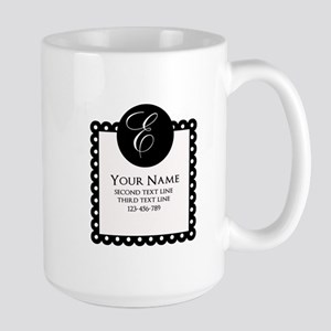 Personalized Texts Large Mug