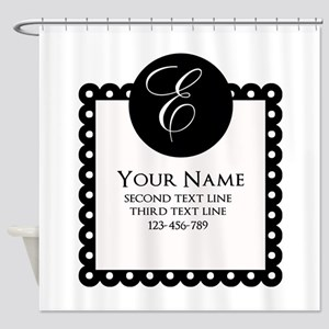 Personalized Texts Shower Curtain