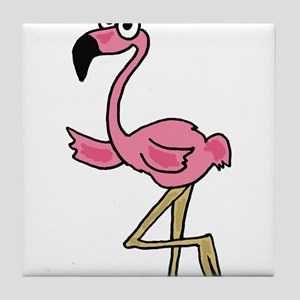 Pink Flamingo Art Tile Coaster