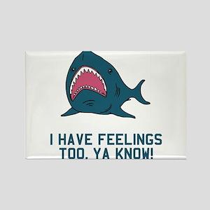 Great white shark feelings Rectangle Magnet