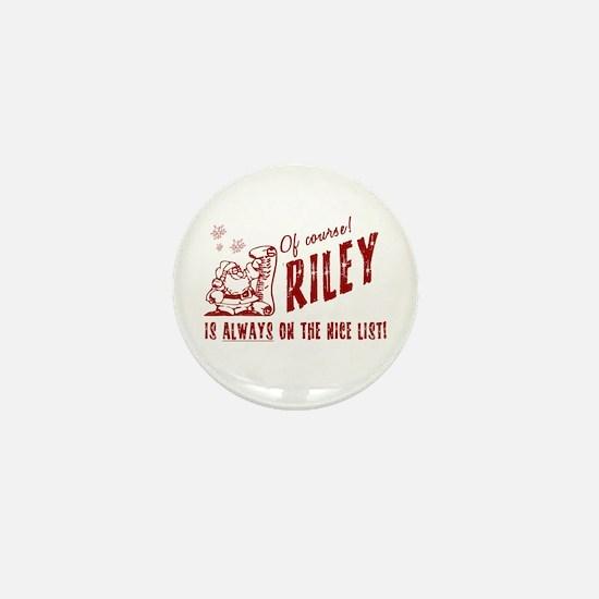 Nice List Riley Christmas Mini Button