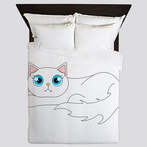 Cute Ragdoll Cat - White with Blue Eyes Queen Duve