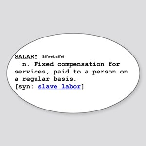 SALARY Oval Sticker