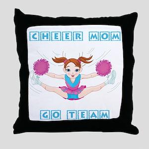 CHEER MOM Throw Pillow