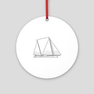 Bugeye Sailboat (line art) Ornament (Round)