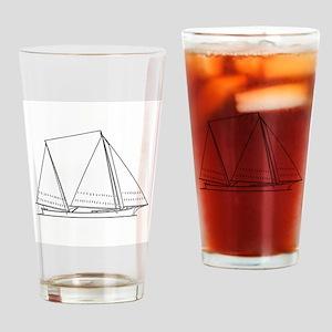 Bugeye Sailboat (line art) Drinking Glass