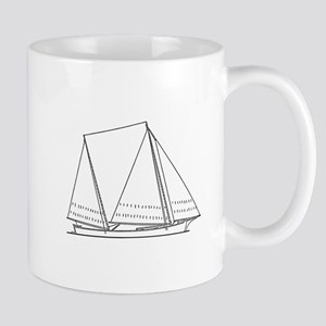 Bugeye Sailboat (line art) Mug