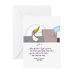 Up Where the Air is Clear Greeting Card