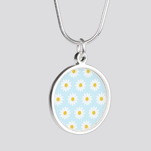 'Daisies' Silver Round Necklace