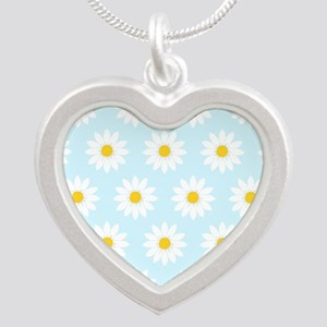 'Daisies' Silver Heart Necklace