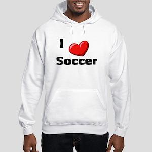 Soccer Playing Bulldog Hooded Sweatshirt