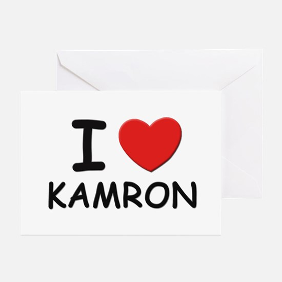 I love Kamron Greeting Cards (Pk of 10)