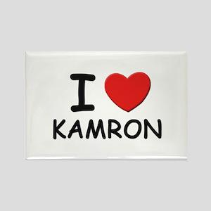 I love Kamron Rectangle Magnet
