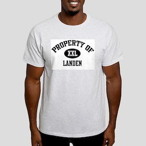 Property of Landen Ash Grey T-Shirt
