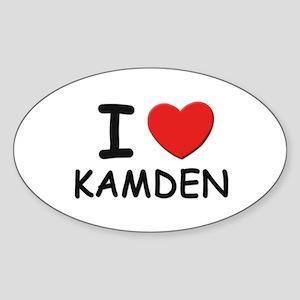 I love Kamden Oval Sticker