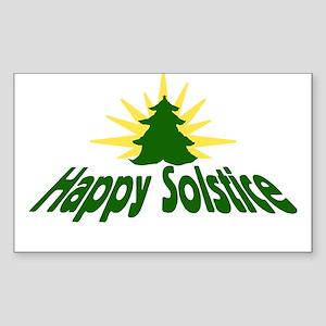Happy Solstice Rectangle Sticker