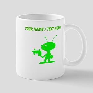 Custom Green Alien With Ray Gun Mug