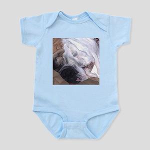 Close-up of Sleeping Bulldog Infant Bodysuit