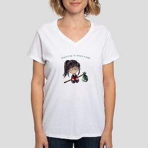 Majoring in Hobo-Ology Women's V-Neck T-Shirt