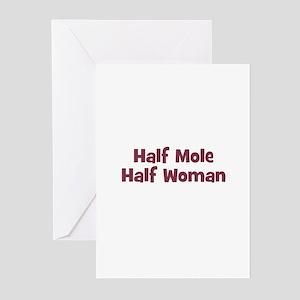 Half MOLE Half Woman Greeting Cards (Pk of 10)