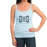 Star Of David Torah Scroll Jr. Spaghetti Tank