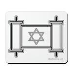 Star Of David Torah Scroll Mousepad