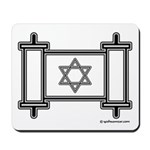 Star Of David Torah Scroll Mousepad