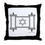 Star Of David Torah Scroll Throw Pillow