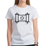 Star Of David Torah Scroll Women's T-Shirt
