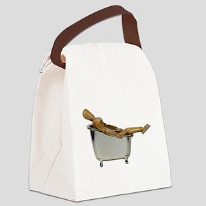 LeanedBackBathtub100711 Canvas Lunch Bag