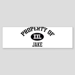Property of Jake Bumper Sticker