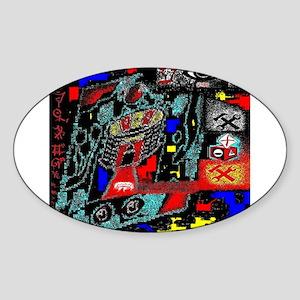 Ayin - An Eye For An I by Bre Oval Sticker
