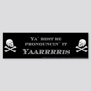 Yaris Pirate Bumper Sticker