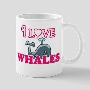 I Love Whales Mugs