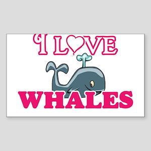 I Love Whales Sticker