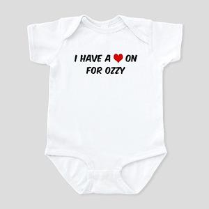 Heart on for Ozzy Infant Bodysuit