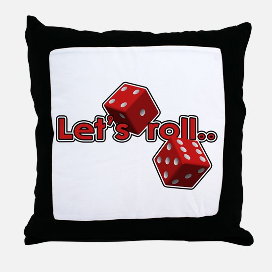 Let's Roll Throw Pillow