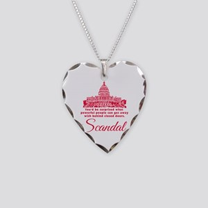 Scandal TV Show Quote Necklace Heart Charm