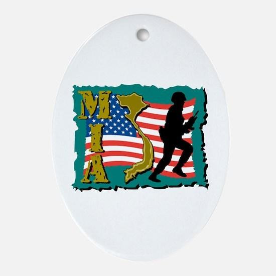 MIA Vietnam Oval Ornament